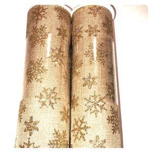 NWT Gold Snowflake Ribbon